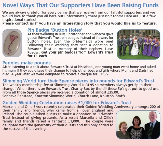 See how some of our supporters have raised funds for us!
