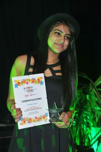Prab Collects her Award